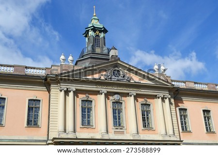 Swedish Academy and Nobel Museum on Stortorget square in Stockholm. - stock photo