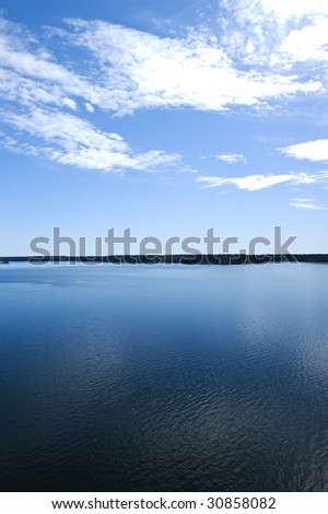 Swedish archipelago in summer day - stock photo