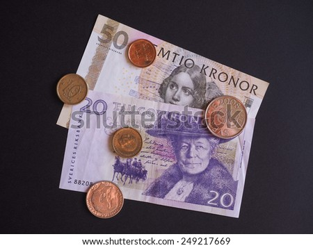 Swedish currency SEK from Sweden - stock photo