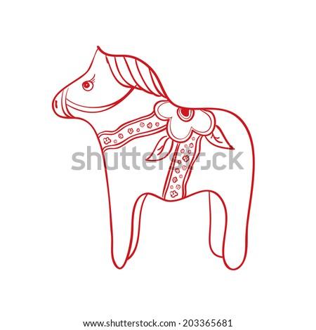 swedish dalecarlian dala horse red wooden horse national symbol of sweden