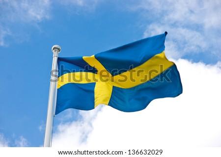 Swedish flag - stock photo