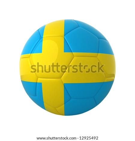Swedish football for europe's championship. - stock photo