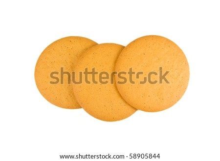 Swedish ginger biscuits isolated on white - stock photo