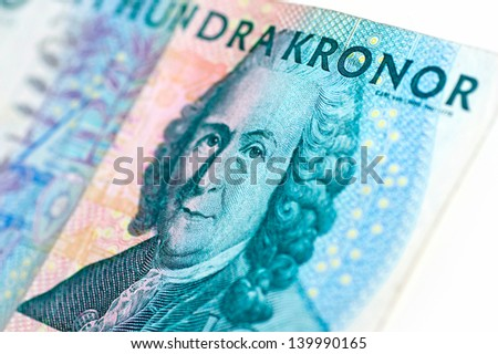 Swedish one hundred kronor bill - stock photo