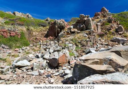 Swedish rocky cliffs - stock photo