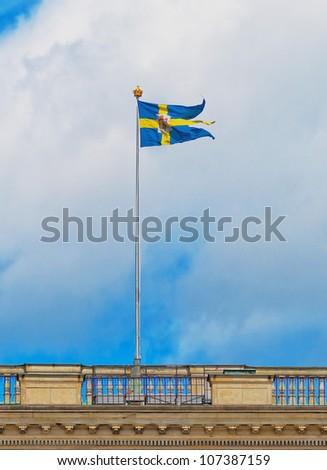 Swedish Royal Flag - stock photo