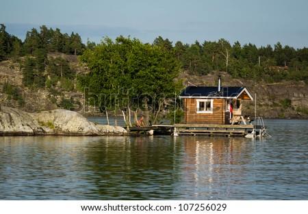 Swedish Sauna - stock photo