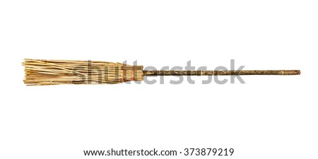 Sweeper, isolated on the white - stock photo