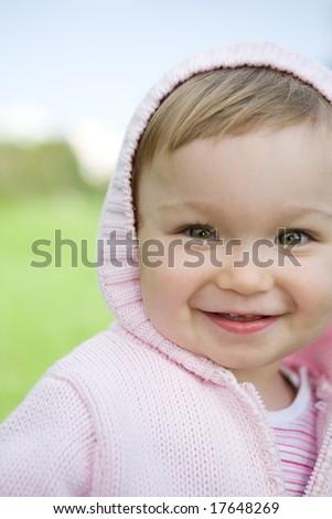 sweet and happy baby girl - stock photo