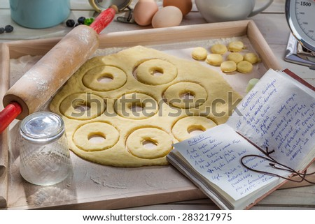 Sweet and tasty donuts made of dairy ingredients - stock photo