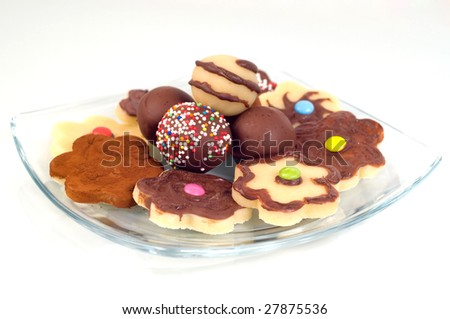 sweet and tasty marzipan - stock photo