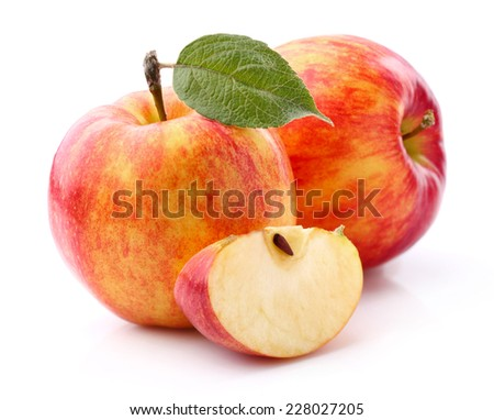 Sweet apples in closeup - stock photo