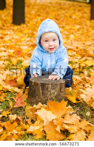 Sweet baby boy playing - stock photo