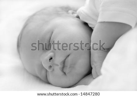 sweet baby sleeping - stock photo