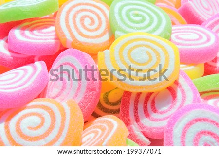 Sweet Background With Colorful Jelly - stock photo