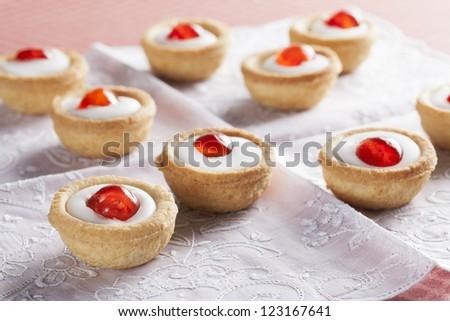 Sweet bakewell pastry treats - stock photo