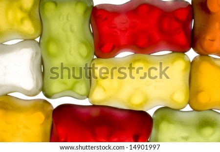 Sweet bear cheerful abstract background - stock photo