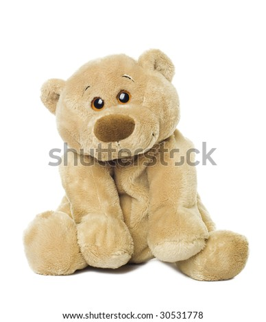 Sweet bear isolated on white background - stock photo