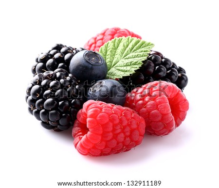 Sweet berry in closeup - stock photo