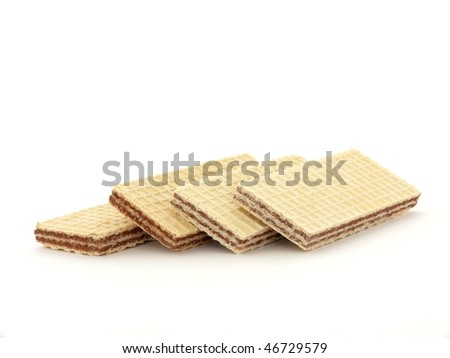 Sweet biscuits isolated on white