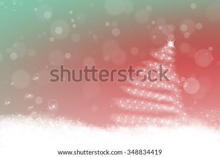 Sweet blue pastel christmas background  - stock photo