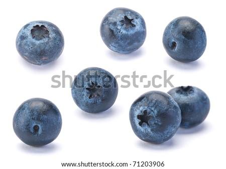 Sweet Blueberry berry closeup isolated on white background - stock photo