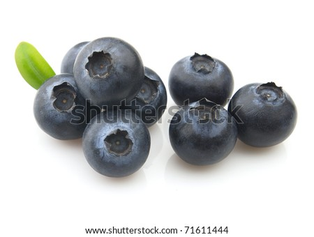 Sweet blueberry . Use it for a health and nutrition concept.