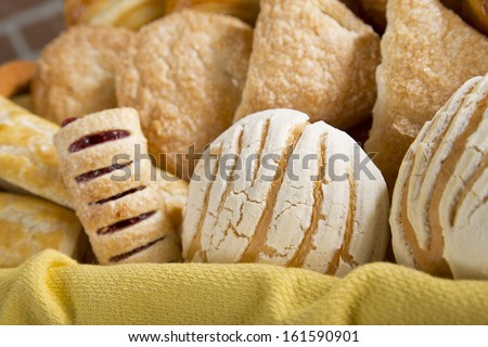 Sweet bread in a basket - stock photo