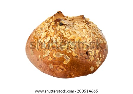 Sweet bread isolated on a white background. - stock photo