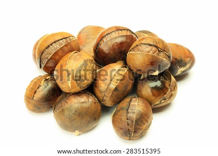 sweet broiled chestnut  - stock photo