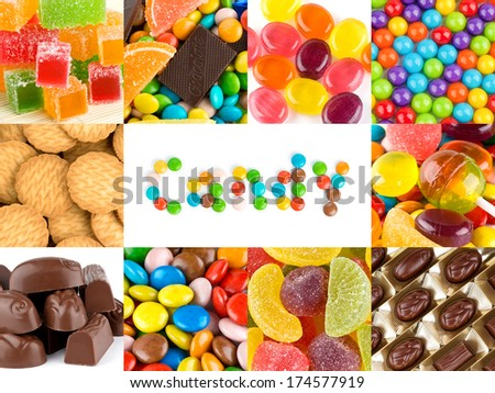 Sweet candies backgrounds  - stock photo
