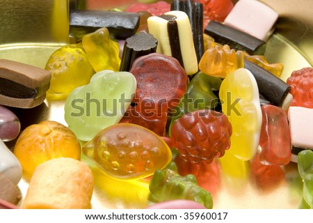 sweet candy gum background full of colours - stock photo
