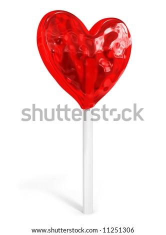 sweet candy heart idea love valentine's day 3d illustration - stock photo