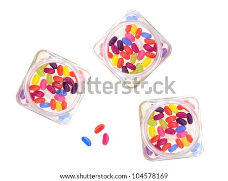 Sweet candy isolated against a white background