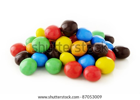 sweet candy on white - stock photo
