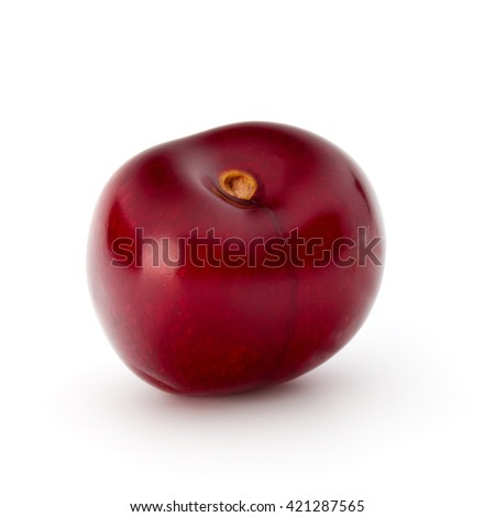 Sweet cherry berry isolated on white background cutout - stock photo