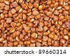 Sweet chestnuts as backdrop - stock photo