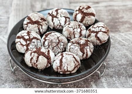 Sweet Chocolate Cake Pops - stock photo