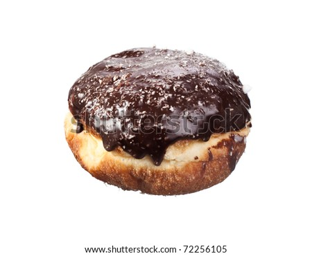 Sweet Chocolate Donut isolated on white