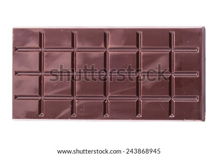 Sweet chocolate on a white background - stock photo