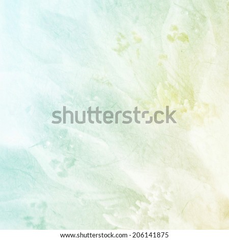 sweet color flower petals on mulberry paper texture - stock photo