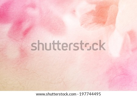 sweet color orchid on mulberry paper texture - stock photo
