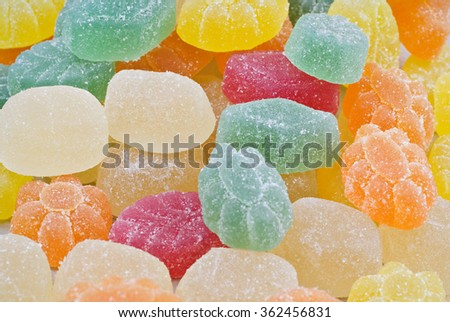 Sweet colorful candy, jelly sweet, colorful desert/Sweet colorful candy, jelly sweet, colorful desert/Sweet colorful candy, jelly sweet, colorful desert - stock photo