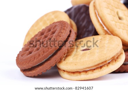sweet cookie on a white background