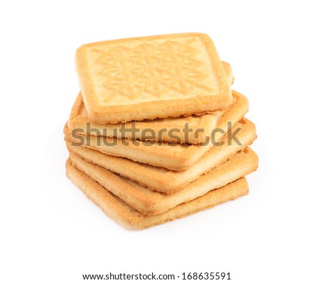 Sweet cookies isolated on white background.