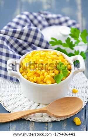 Sweet corn - stock photo
