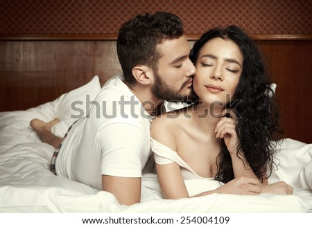 Sweet couple - stock photo