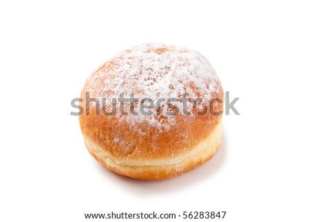 sweet donut on white background - stock photo