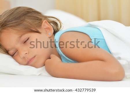 Sweet dreams, real adorable girl sleeping