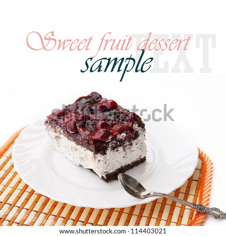 Sweet fruit dessert.Fruit biscuit - stock photo
